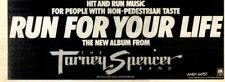 """F25 NEWSPAPER ADVERT 4X11"""" THE TARNEY SPENCER BAND : RUN FOR YOUR LIFE"""