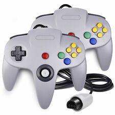 2x Game-Controller Joystick Für Nintendo 64 N64 System GamePad grau