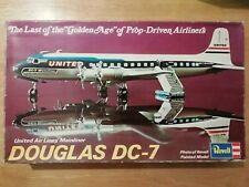 "VINTAGE REVELL H-168 DOUGLAS DC-7 UNITED AIRLINES ""MAINLINER"" (1974) - BOXED"