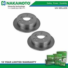 Nakamoto Rear Brake Rotor Pair Set of 2 for Hyundai Santa Fe Tucson Kia Sportage