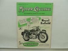 October 1954 MOTORCYCLING Magazine Royal Enfield Meteor 700 L8657