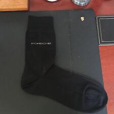 PORSCHE DESIGN SELECTION BLACK CASUAL/DRESS SOCKS W/PORSCHE LOGO. USA SIZE 10-12