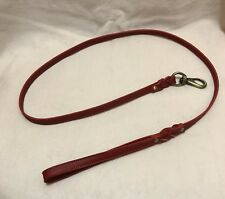 Red Leather 4 Foot Leash - Top Grain Leather, Therapy Dog or Service Dog