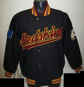 WASHINGTON REDSKINS Wool Snap Down Jacket M L XL