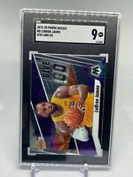 2019 PANINI MOSAIC GIVE AND GO LEBRON JAMES #8 LAKERS SGC 9 MINT
