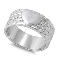 Women's Heart Love Shiny Promise Ring New .925 Sterling Silver Band Sizes 5-10