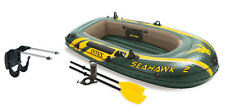 Intex Seahawk 2 Inflatable Boat Set + Oars/Pump/Motor Mount | 68347EP + 68624E