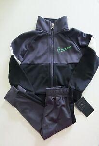 Nike Little Boys 2 Pc Color Block Tricot Tracksuit Set Gridiron Sz 5 - NWT