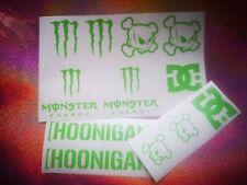 12 PACK OFFER Hoonigan Ken Block DC Monster Energy Door/Window Sticker/Decal