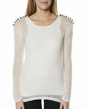 BLESS'ED ARE THE MEEK WEB OF LIES TUNIC Spiked Shoulder Color Ivory Size 10 BNWT