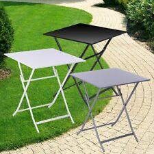 Klapptisch 60x60 cm Gartentisch Tisch Bistro Balkontisch Gartenmöbel Metall
