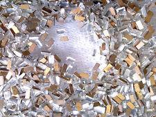 VTG 144 CLEAR BAGUETTE CUT FLAT BACK BEVEL CABOCHONS Austria  4X2mm #060116h