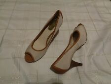 womens nickels allyce multi colled fabric open toe heels shoes size 8