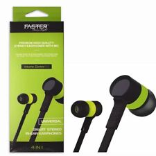 FASTER Universal Smart Stereo Earphones with Mic - 4 in 1