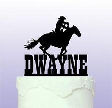 Personalizzata Western Equitazione cake topper