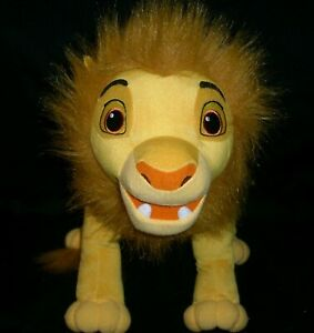 "14"" DISNEY THE LION KING SIMBA 10260 HASBRO STUFFED ANIMAL PLUSH TOY MOVIE BIG"