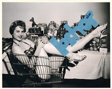 Rare MARTHA HYER photo Hollywood Glamour Sexy bare legs feet toes in high heels