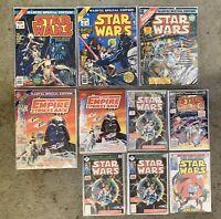 STAR WARS Comic Book Lot Of 10 #1 Issues 1977-1982 Marvel Comics +3 Bonus Comics