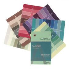 """Sommer-Farbpass, 30 Farben """"Active"""" zur Farbberatung - Farbfächer Sommertyp"""