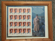 Humphrey Bogart Legends Of Hollywood 1997 USPS Stamps Sheet Set Wood 12X10 Frame