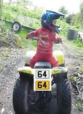 KIDS MOTORBIKE 6 X 4 NOVELTY PLATE WHITE OR YELLOW SIGN