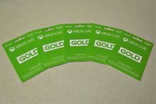 NEW LOT OF 5 XBOX LIVE GOLD 3 MONTH PREPAID GAMING CARDS FOR XBOX ONE & XBOX 360