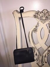 Vintage Coach Black Leather Cross body Clutch