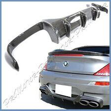 For 2006-2010 BMW E63 E64 M6 2DR V Look 3K Carbon Fiber Rear Bumper Diffuser Lip