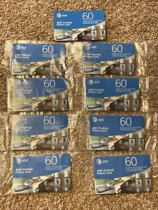AT&T Prepaid Phone Cards9 cards 60 minutes each....540 Total Minutes