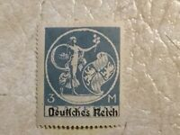 RARE 1920 Germany 3 Mark Bavarian stamp with overprint type UNC  Lot