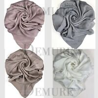 Satin Silk Hijab Bamboo Scarf Elegant Plain High Quality Shawl Wrap Cape Sarong