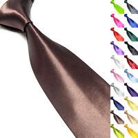 Hot Solid Color Plain Classic 100% Silk Jacquard Woven Necktie Men's Tie Wedding