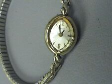 "Tissot vintage ladies gold plated watch 6"" stretch pretty clean Swiss Made 17 J"