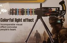 ARMY ASSAULT MACHINE GUN WITH FLASHING LIGHT FIRING SOUND 54.5CM GIRLS BOYS TOYS