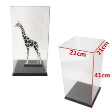 """US 41cm 16"""" Clear Acrylic Display Show Box Case Protection Dustproof Tray Toys"""