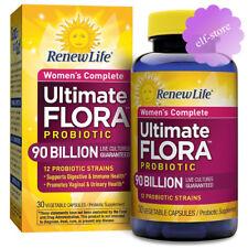 Renew Life, Ultimate Flora Women's Complete Probiotic 90 Billion 30 Veggie Caps