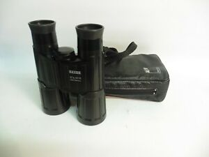 WEST GERMAN ZEISS 10X40B BINOCULARS WITH ORIGINAL LEATHER CASE, GREAT CONDITION