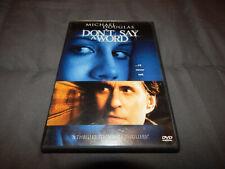 Dont Say a Word Dvd 2002 Michael Douglas Brittany Murphy Oliver Platt