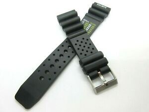 Black Resin 22mm Sports Divers Watch Strap Stainless Steel Buckle N D Limits