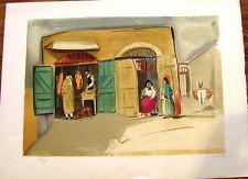 "Israeli Art- Israel - Nachum Gutman-  Lithography - 25.5"" x 19"" -Colorfull Rare"