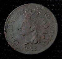 1866 INDIAN HEAD CENT - AU DETAILS! #13385
