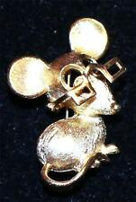 with Movable Eyeglasses Pin Brooch Vintage Signed Avon Goldtone Mouse