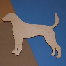 Harrier Hound Dog Shape Flat Unfinished Wood Craft Cut Outs Variety Sizes H5569