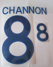 Channon no 8 England Home Football Shirt Name Set Adult Sporting ID