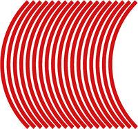 9mm cerchione nastro striatura strisce adesivi ROSSO 38 pezzi/9 per ruota)