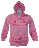 New Girls Hoodie Aztec Reindeer Print White Grey Pink Purple Age 3 - 14 years