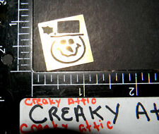 TINY SNOWMAN FACE BRASS DRY EMBOSS STENCIL TEMPLATEEMBOSSING LASTING IMPRESSIONS