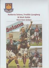 NOLBERTO SOLANO WEST HAM UTD 2007-2008 ORIG HAND SIGNED MONTAGE/CARD X 5 SIGS