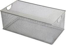 Ybm Home Mesh Storage DVD Box, Silver Mesh 2318