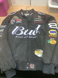 NWT Dale Earnhardt Jr Black #8 Budweiser Chase Authentics Jacket Size XXXL 3XL